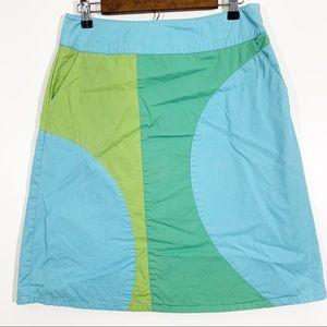 Boden Size 10 Geometric Mod A-Line Skirt Pockets